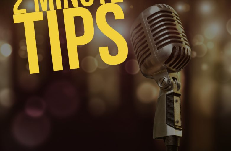 2 Minute Tips with Scott Humston-Episode 26-Nomenclature of the Stage
