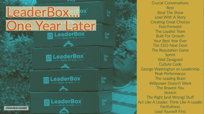 Leadership Through Books (thoughts on LeaderBox, one year later)